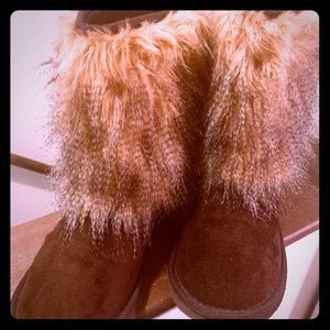 Maurice's Boho Style Fur Boots Size 7